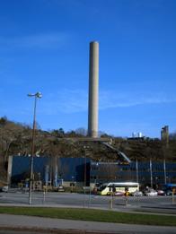 Henriksdals reningsverk på och i Henriksdalsberget