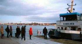 M/S Kanholmen vid Saltsjöqvarns brygga