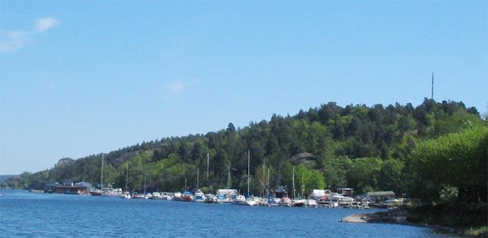 Ryssbergen, Marinstaden och Nacka båtklubb
