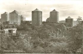 Danviksklippan sedd från Fråfängan 1946