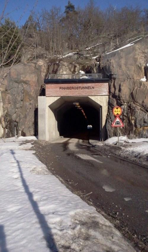 Mynningen till Finnbergstunneln mellan Finnboda och Kvarnholmen - Västra Sicklaön