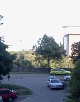 Räddningstjänst och polis på Henriksdalsberget