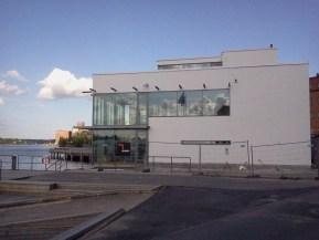 Sjökrogen FB Sea i Finnboda under uppbyggnad