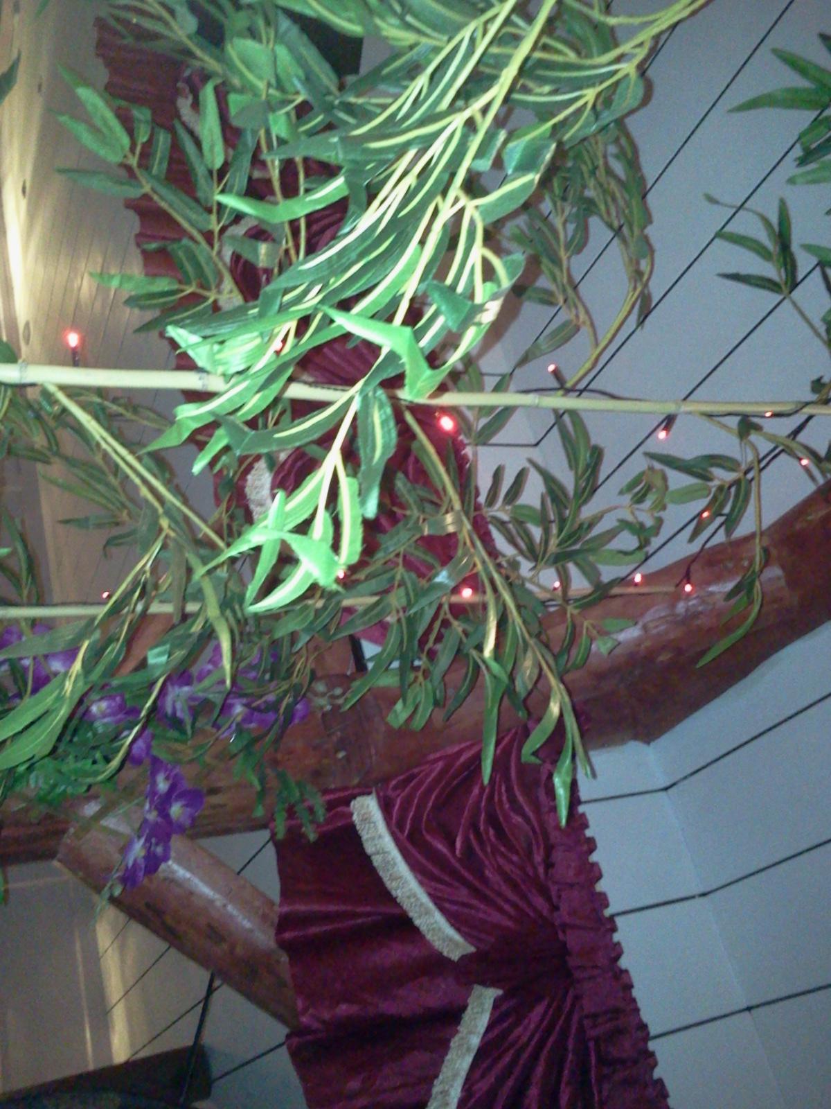 Plastväxter på kinakrogen Lucky House på Henriksdalsberget