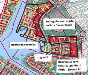 Planerad bebyggelse inom Lugnet III