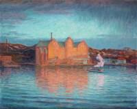 Prins Eugens målning Saltsjöqvarn vårafton 1907