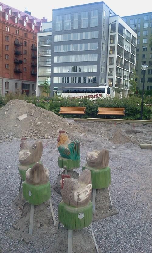 Parkleken i Saltsjöqvarn rustas upp