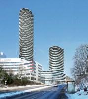 Henriksborg & Saltsjöqvarn: Föreslagna bostadskomplexet Nacka Tower på Kvarnholmsvägen