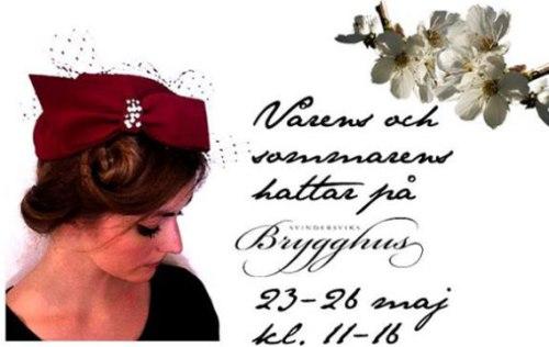 vernissage för vårens och sommarens hattar på svindersviks brygghus