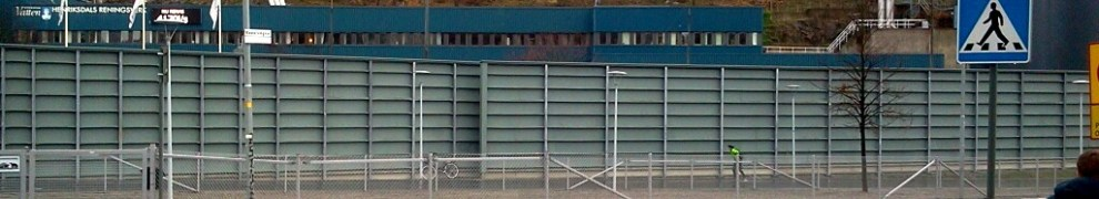 Övergångsställe vid Kanalvägen i Henriksdalshamnen