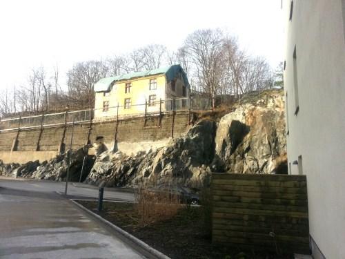 Finnboda, Nacka: Disponenthuset från 1800-talet ovanför Finnboda Hamnplan