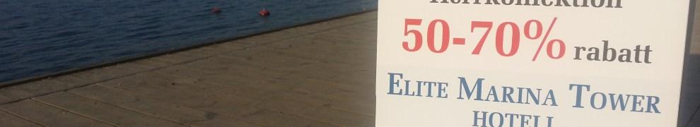 Utförsäljning av herrkläder på Elite Hotel Marina Tower