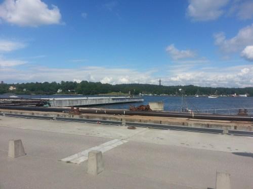Finnboda, Nacka: Betongponton för Sjövägen