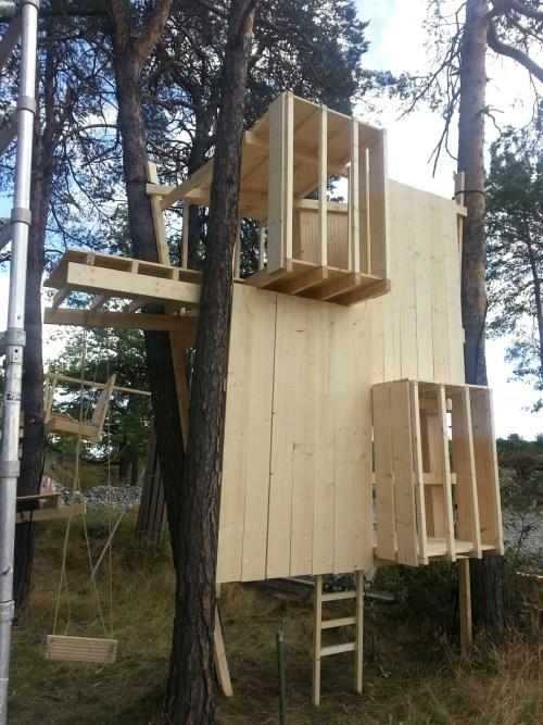Trähus på Kvarnholmen i Nacka