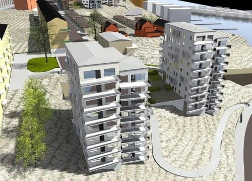 Tre Kronors backe på Kvarnholmen i Nacka