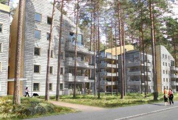 Trolldalen reduceras till några träd mellan husen