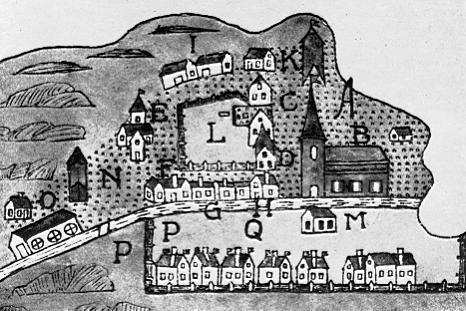 Karta av Samuel Danielsson Termannus från 1646