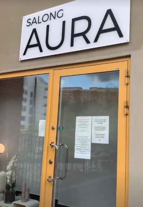 Salong Aura på Västra Finnbodavägen i Nacka