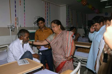 Chief Minister Raje inaugrated CT Scan Machine