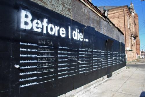 before i die wall
