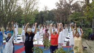 Completion of four day yoga camp, Noida Sector 40