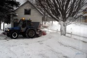 Snow machine in action