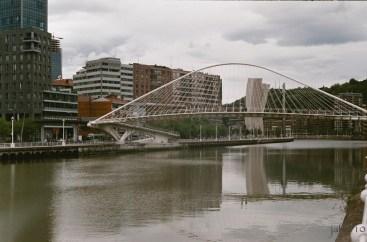 In Bilbao walking forward ... to the Guggenheim