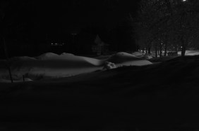 Snowcape at night