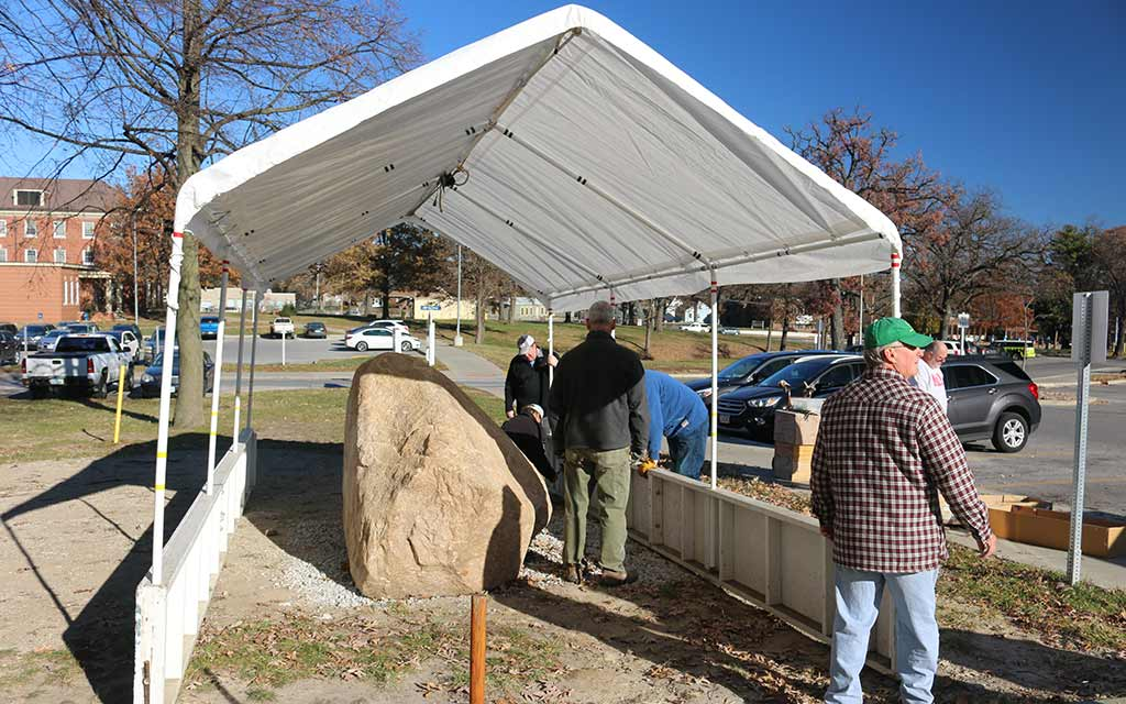 Tenting and Heating the Rock