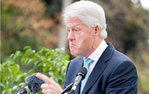 Bill Clinton appeared extremely irritated, even angry, when he met the media this morning, in Washington.