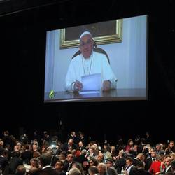 "The Pope's video message to experts attending ""The Ideas of Expo 2015"" event"
