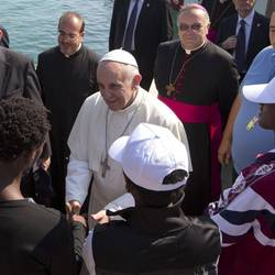 Francis in Lampedusa