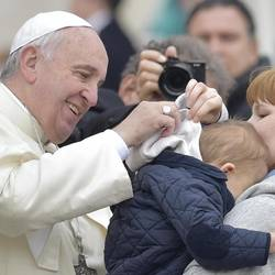 The Pope expresses love and joy