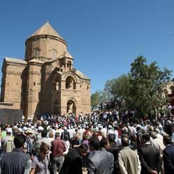 Iglesia armenia en Akdamar Island, Turquía