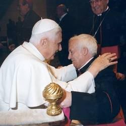 Cardinal Cañizares with Pope Benedict XVI