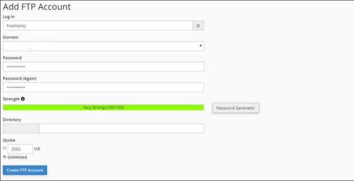 Cara menggunakan FileZilla add_ftp_account