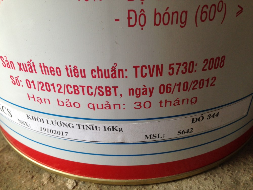 Sơn Dầu Bạch Tuyết màu đỏ 344-16kg