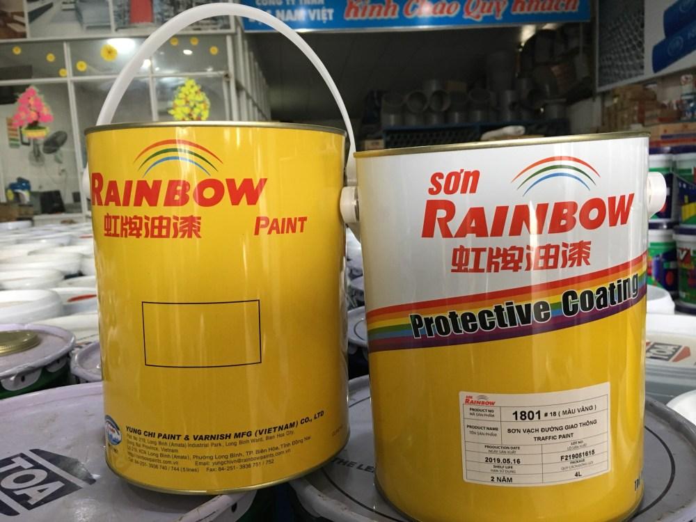 SON VACH KE DUONG MAU VANG RAINBOW 4L (2)