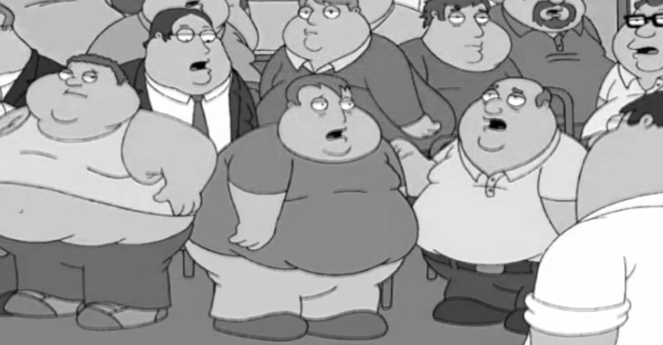 group of fat people