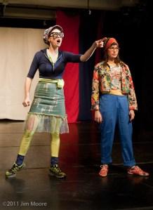 Emily James and Ishah Janssen-Faith at Triskelion Arts
