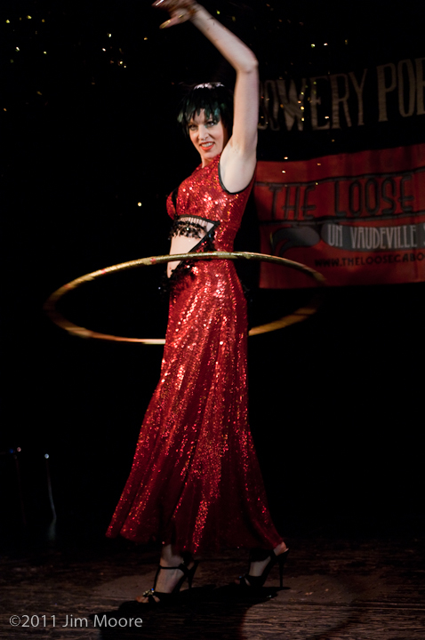 Pinky Special lures the audience in with her hula hoop dance.