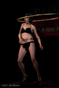 Pinky Special at Loose Caboose with her hula hoop.