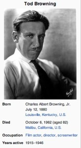 Tod Browning's photograph and bio on Wikipedia