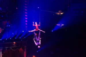 Trapeze act from Ukraine at Cirque d'Hiver in Paris
