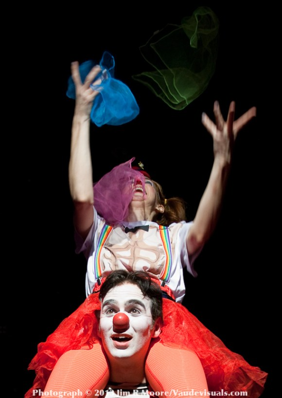 Mr. and Missus Clown performing in The Night Circus