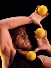 Kyle johnson id s California based juggler.