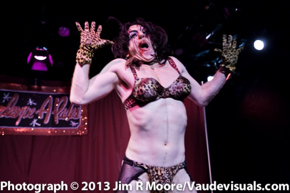 Tigger performing at Burlesque-a-pades.