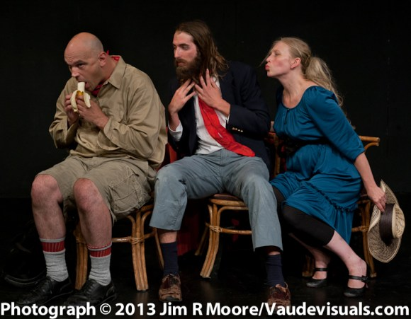 Aaron Tucker (with banana) Amanda Huotari, Daniel Orrantia.