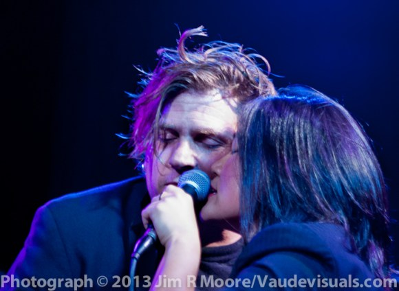 Eric Miranda and Diana Oh share a mic on one of the many wonderful songs.