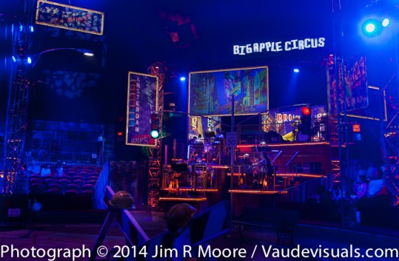 Big Apple Circus LUMINOCITY set.